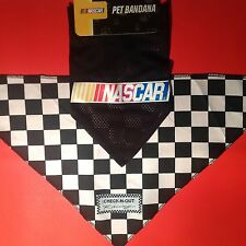 PET BANDANNAS/Collar Accessory/Costumes NASCAR Racing/Checkered Flag 2 Sizes
