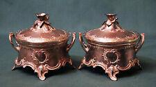 Art Nouveau WMF Antique silver-plated Bowl Pair silver plated silverplated