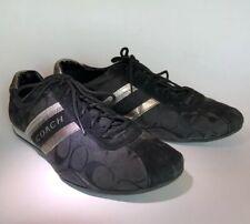 COACH JAYME Black & Silver Signature Women's Sneakers Sz 9.5 M