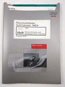 Reparaturleitfaden Audi 80 Cabrio 92> Motronic Zündung 1.8 l-Motor ADR 92 kW