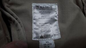 Tru-Spec Tactical Combat Rip Stop Pants Mens Size 34x34 Black 65%Poly/35%Cotton