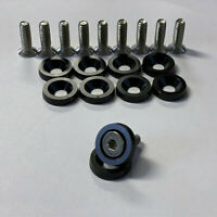 aluminum cnc machined washers and bolts pack of 10 fenders, wings bumpers drift