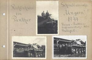 9 X Fotos Panther Panzer 1944 Ungarn Panzermann Richtschütze org. Fotos
