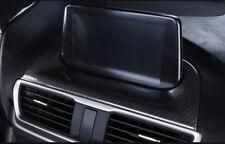 Carbon Fiber Interior Navigation Frame Cover Fit For MAZDA 3 Axela 2017-2018