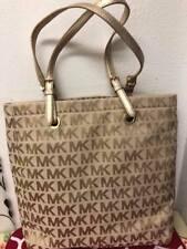 NWT Michael Kors Jet Set Signature JQD Beige gold Tote Handbag Purse - $198