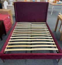 Habitat 'Shiraz' Deep Red Velvet Luxury Double Bed Frame NEW (AG/GG/02)KW