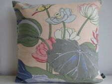 GP&J Baker Nympheus Birds Cotton & Green Velvet Fabric Designer Cushion Cover