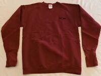 Vintage 90s HANDCUFFS Sweatshirt Crew Neck Burgundy Maroon Made In USA Size M