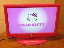 """Hello Kitty Tv Monitor Flatscreen Kt2215 19"""" Led Rare"""