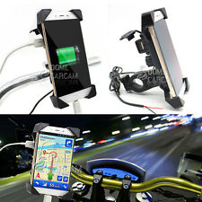Universal Phone Holder USB Charge For Honda VTX 1300 1800 C R S RETRO VT 750 VLX