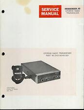 Original Factory EF Johnson Messenger 40 CB Radio Service Manual