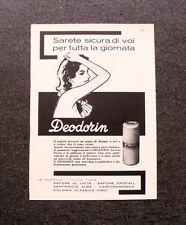 L601- Advertising Pubblicità -1957- DEODORIN RUMIANCA