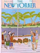 New Yorker COVER 02/27/1989 - Wave Goodbye  EHRENBERG