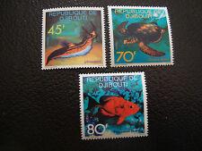 DJIBOUTI - timbre - yvert et tellier n° 465 a 467 nsg (A7) stamp