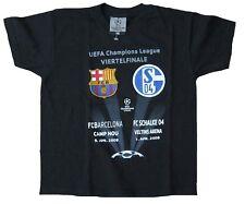 Official Champions League VIERTELFINALE 2008 SCHALKE 04-FC BARCELONA T-Shirt 116