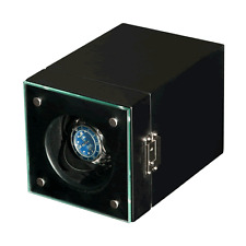 Matt Black Wooden Single (One) Watch Winder : Mains / Battery : Japanese Motor
