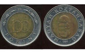 HUNGARY   HONGRIE  100  forint 1998   ( etat )