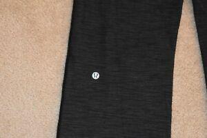 LULULEMON Size 8 Women's Nylon Spandex Yoga Pants Heather Charcoal Lime