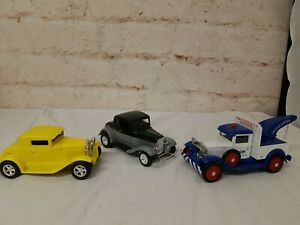 3 Liberty Classics Old Cars Model A Roadster Tow Truck Limited Edition Bank