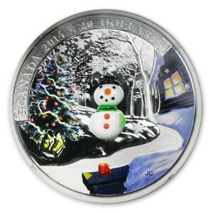 Snowman Venetian Glass - 2014 1 oz .9999 coin