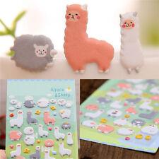 Kawaii 3D Cartoon Sheep Cartoon Puffy Animal Scrapbooking Stickers Decorative LT