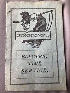 SYNCHRONOME ELECTRIC TIME SERVICE - DESCRIPTIVE CATALOGUE AND PRICE LIST - 1920s