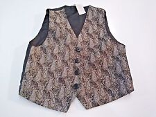 Boy's Vest Black with Grey Paisley Design, Satin back and interior Size 24Months