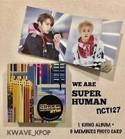 ✨NCT127✨ WE ARE SUPER HUMAN -1 KHINO ALBUM +1 SET ACCORDIAN PHOTO CARD 9 MEMBERS