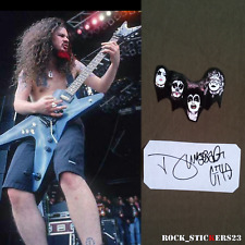 Dimebag Darrell stickers Kiss band guitar Dean Pantera + autograph vinyl decal