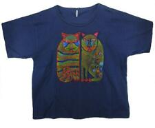 Cats Hand Painted & Beaded T-Shirt - M to L