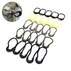 5PCS Tail Rope Zipper Bag Easy To Use Black Rope Anti-Theft Camping Security HU