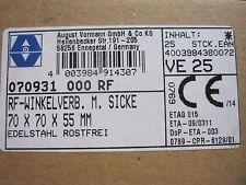 Winkelverbinder Winkel mit Wulst Edelstahl V4A 70x70x55 4Stück 1St=3,80€