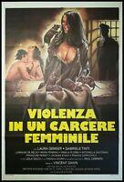 "VIOLENCE IN THE WOMEN'S PRISON 1982 Original Movie Poster 39x55"" 2Sh Italian SEX"