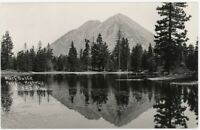 Black Butte on Pacific Highway California - antique 1936 RPPC