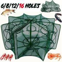 6/8/12/16 Upgrade Holes Automatic Fishing Net Shrimp Fish Cage Crab F0W5