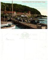 CANADA Postcard Ontario, Fishing Village, Jack Fish, Lake Superior (A5)
