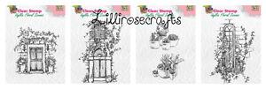 Nellie Snellen Clear Stamps - Idyllic Floral Scenes - Window - Door - Flowerpots