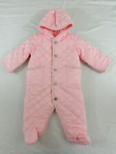 Ralph Lauren Polo Pony 1 Piece Snow Suit Quilted Hooded Overall Bunting Jacket 6