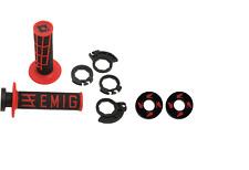Red ODI V2 Locking Lock On Grips FX Honda Grip Donuts For 2 4 Stroke CR CRF