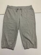 Nike Women's Size XL Sweatpants Capri Pants Grey Athletic Active Fitness Comfort