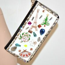 BOLSA pochette mujer pintura blanca negra clutch cristales strass cerimonia 107