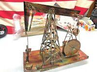 ⭐️Handmade music box metal oil well reg plays impossible dream⭐️
