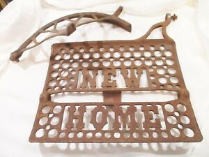 Antique New Home Cast Iron Treadle Sewing Machine Foot Pedal and Belt Guard