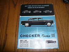 1964 Checker Marathon Sales Flyer - Sedan Wagon & 4 Door Sedan