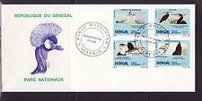 ASg/ Sénégal   gde  enveloppe  1er jour  oiseaux  parc national  1989