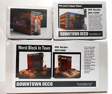 Downtown Deco HO Scale 3 kit Combo Worst Block, Cooters & Fat Lou's Liquor Save!