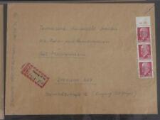 DDR MEF MiNr 935 OR 1, 30 Pf Ulbricht, OBERRAND DM, R-D-Brief, Leipzig 15.5.63