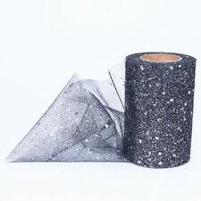 Sparkle Glitter Sequin 22 Metres TUTU Tulle Net Mesh Fabric Roll 15cm Wide Craft