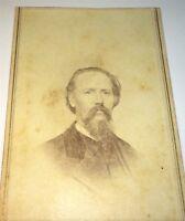 Rare Antique Victorian American Civil War ID'd Reverend! Religious CDV Photo! WI
