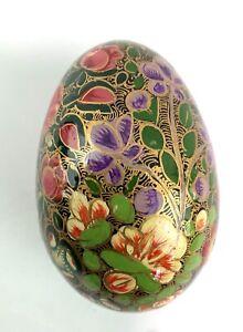 Hand Painted Paper Mache Wooden Decorative Egg Collectors
